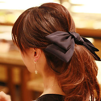 женская супер большой чистый цвет волос смычка клип