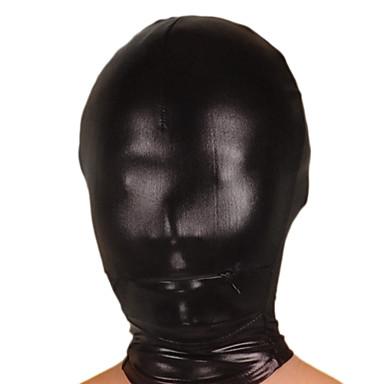 Maske Ninja Zentai Kostüme Cosplay Kostüme Schwarz Solide Maske Glänzend Metallisch Herrn / Damen Halloween / Hochelastisch