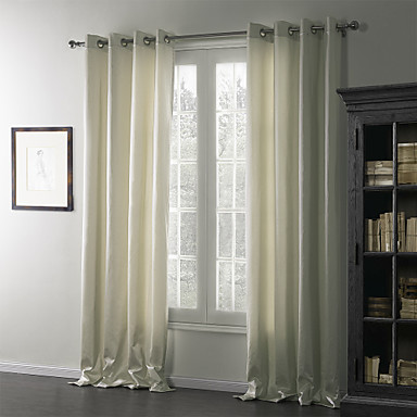 Dvije zavjese Prozor Liječenje Moderna , Jednobojni Posteljina / pamuk Blend Materijal Zavjese Zavjese Početna Dekoracija For Prozor