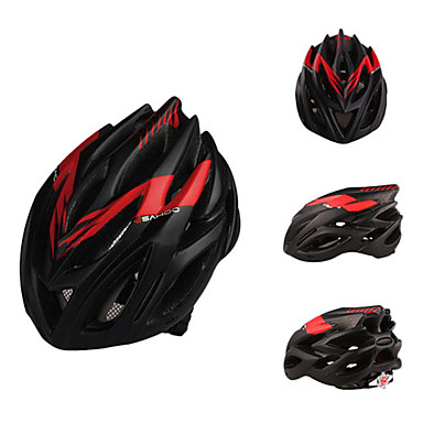 2013 New Designed PC Materials Ajustable Matte Black and Red Cycling Helmets(23 Vents)