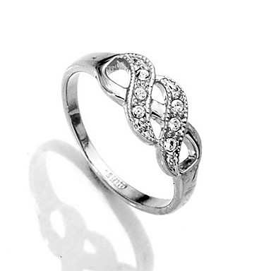 Pretty Gold/platinum Plated with Crystal Ring