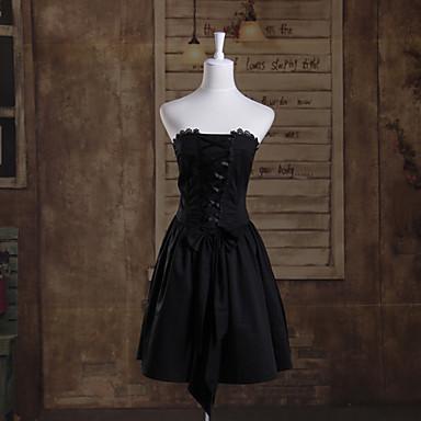 Gothic Lolita Dress Princess Women's Dress Cosplay Sleeveless Short Length