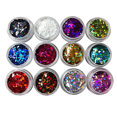 12pcs Glitter & Poudre Sequins Discounted Flatbacks Other Decorations Decoration Kits Fashion Punk High Quality Daily
