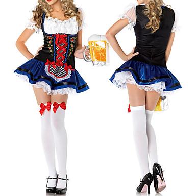 Oktoberfest Bayerisch Cosplay Kostüme Party Kostüme Damen Halloween Karneval Silvester Fest / Feiertage Austattungen Spitze