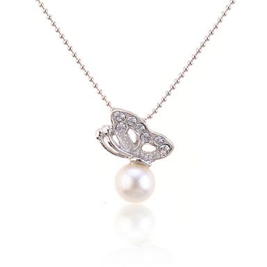 Damen Perle Anhängerketten / Perlenkette - Perle damas, Modisch Weiß Modische Halsketten Schmuck Für Alltag