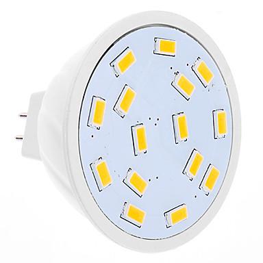 GU5.3(MR16) LED-spotlys MR16 15 SMD 5630 320 lm Varm hvid Jævnstrøm 12 Vekselstrøm 12 V