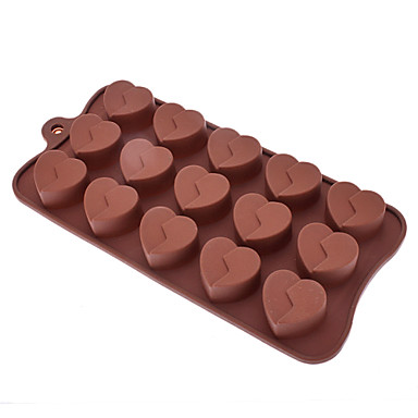 Kærlighed Formet Sugarcraft Silicone Mold Candy / Cookie / Jelly / Chokolade