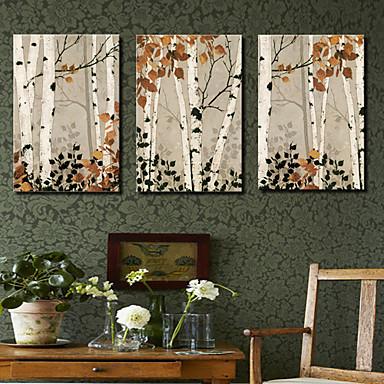 Canvas Set Botanički Tri plohe Horizontalan Print Zid dekor Početna Dekoracija