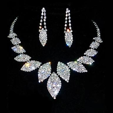 Pentru femei Ștras Ștras Aliaj Aniversare Zi de Naștere Σκουλαρίκια Coliere Costum de bijuterii