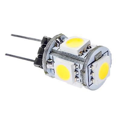 daiwl g4 1w 6000-6500k 65-75lm 5x5050smd přirozené bílé světlo LED auto žárovky (DC 12V)