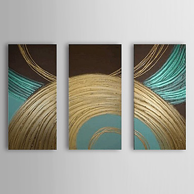Hang-Painted öljymaalaus Maalattu - Abstrakti Moderni Kangas