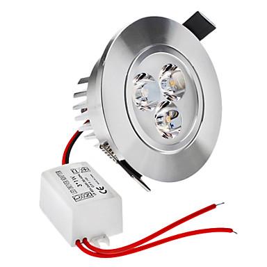 3W Loftslys 3 Højeffekts-LED 210 lm Varm hvid Justérbar lysstyrke Vekselstrøm 220-240 V