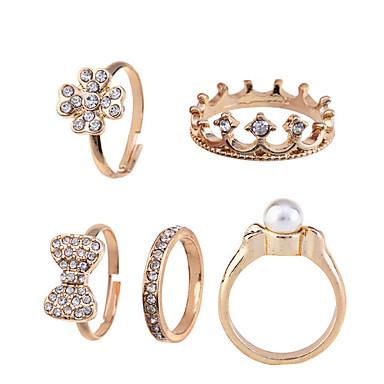 Pentru femei Auriu Perle Aliaj Bowknot Shape Crown Shape Zilnic Costum de bijuterii