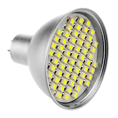 SENCART 240lm GU5.3(MR16) LED Spot Lampen MR16 60 LED-Perlen SMD 3528 Natürliches Weiß 12V