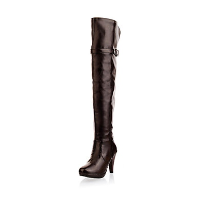 Women's Shoes Stiletto Heel Over The Knee Boots With Buckle Party/Evening Shoes More Colors Available