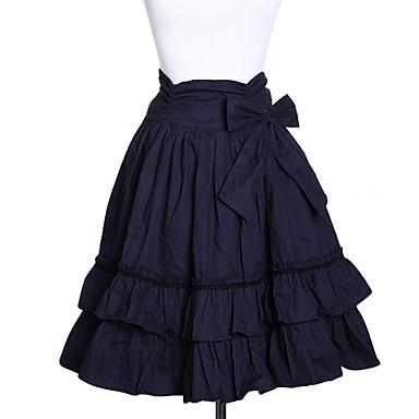 Skirt Classic/Traditional Lolita Lolita Cosplay Lolita Dress Solid Medium Length Skirt For Cotton