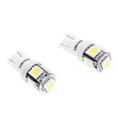 T10 1W 5-SMD 70LM 6000-6500K White Light LED žarulja za auto (DC 12V, 2-Pack)