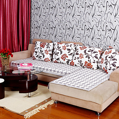 Cotton Check Hemming Sofa Cushion 90*150