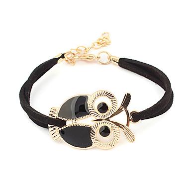 Unique Alloy Leatherette With Owl Women's Bracelet (More Colors)