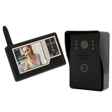 Sistem video-interfon cu display wireless color, rezistent la apă 3.5