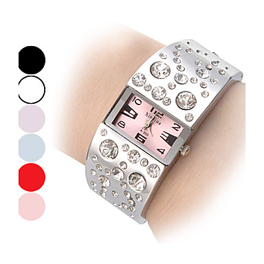 Women's Diamond Pattern Dial Steel Band Quartz Analog Bracelet Watch (Assorted Dial Colors) Cool Watches Unique Watches