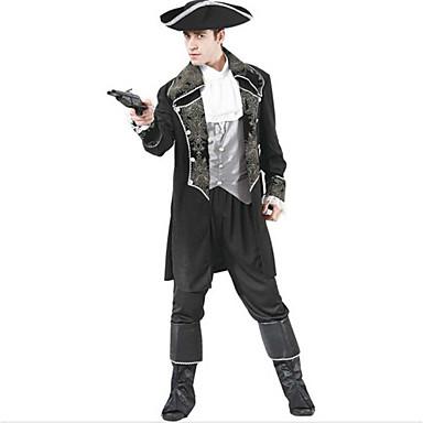 Pirat Costume Cosplay Costume petrecere Bărbătesc Festival/Sărbătoare Costume de Halloween Halloween Carnaval 纯色