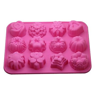 Backwerkzeuge Silikon Umweltfreundlich / 3D Kuchen / Plätzchen / Obstkuchen Backform 1pc