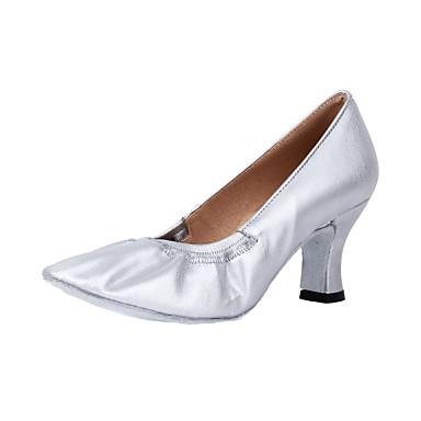 Pentru femei Pantofi Moderni / Sală Dans Imitație Piele Călcâi Toc Personalizat Personalizabili Pantofi de dans Argintiu / Bronz