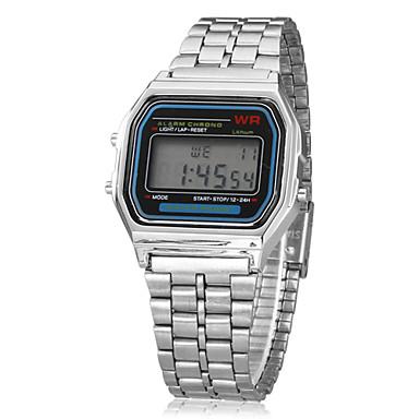 Erkek Bilek Saati Alarm / Takvim / Kronograf Alaşım Bant İhtişam Gümüş / LCD / SODA AG4