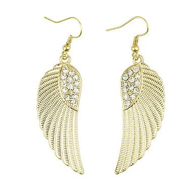 Women's Drop Earrings Luxury Fashion European Imitation Diamond Alloy Wings / Feather Jewelry Daily