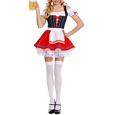 Oktoberfest Costume de carieră Chelner/Chelneriță Costume Cosplay Costume petrecere Feminin Crăciun Halloween Oktoberfest Festival /
