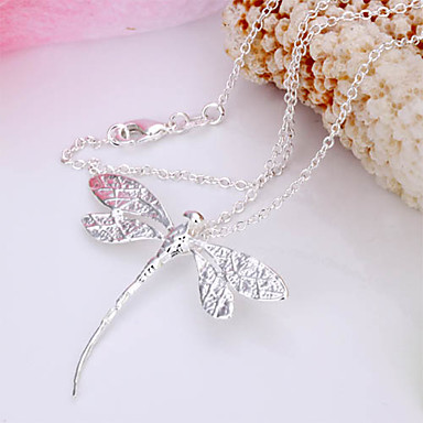 Pendant Necklace Silver Plated Alloy Pendant Necklace , Wedding Party Daily