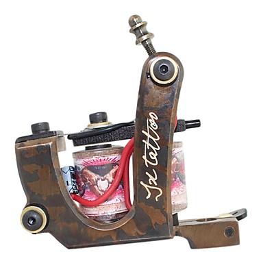 LANJUE TATTOO Profesyonel Dövme Makinesi - 1 x Çizgi ve gölgelendirme için oymalı Dövme Makinesi Portatif Profesyonel En iyi kalite 1 pcs Bakır Oyulmuş