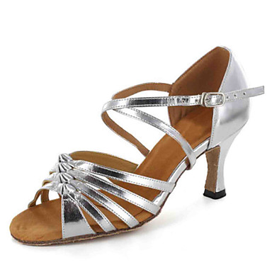 Suede Ankle Strap Latin / Ballroom  Women's Dance Shoes With Buckle Customizable