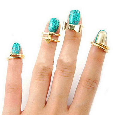 Women's Statement Ring Golden Alloy Party Daily Casual Costume Jewelry