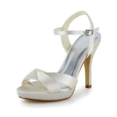 Pentru femei Pantofi Satin Elastic Satin Primăvară Vară Toc Stilat pentru Nuntă Negru Roz