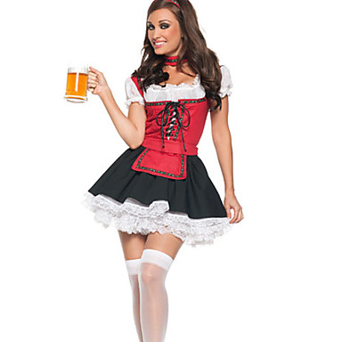Octoberfest Bere fata Lace-up Top uniforme de curatenie