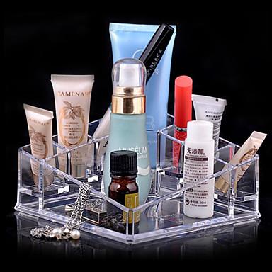 Cutie Cosmetice Depozitare Farduri Mată Pătrat Teracotă