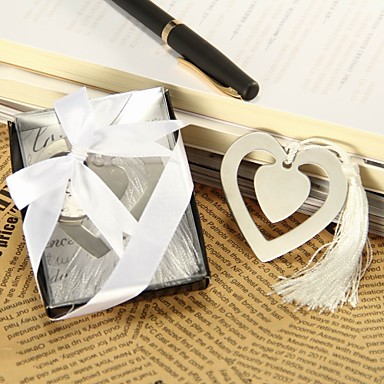 Wedding Bridal Shower Stainless Steel Bookmarks & Letter Openers Classic Theme