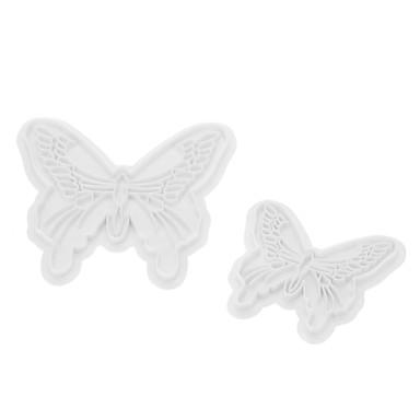 Dekorationsværktøj Sommerfugl Tærte Småkage Kage Plast Øko Venlig GDS 3D