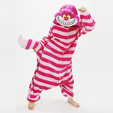 7a6ede8f6 Adults' Kigurumi Pajamas Chesire Cat Animal Onesie Pajamas Coral fleece Red  Cosplay For Men and Women Animal Sleepwear Cartoon Festival / Holiday  Costumes # ...