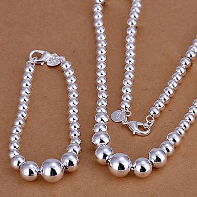 Dámské Sady šperků Módní Párty Zvláštní příležitosti Narozeniny Zásnuby Denní Postříbřené Náhrdelníky Náramek