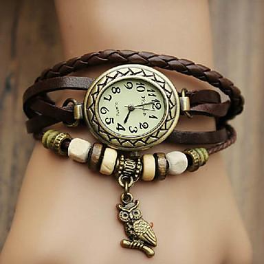 cheap Women's Watches-Women's Bracelet Watch Wrap Bracelet Watch Quartz Wrap Quilted PU Leather Black / Blue / Red Casual Watch Analog Ladies Bohemian Fashion - Red Green Blue One Year Battery Life / Jinli 377