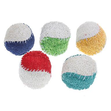 Kedi Diş Çıkarma Oyuncakları Köpek Diş Çıkarma Oyuncakları Loofahs & Sponges Tenis Topu Tekstil Uyumluluk Köpek Köpek Yavrusu