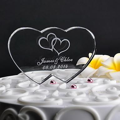 Tortenfiguren & Dekoration Klassisch Herzen Krystall Hochzeit Jahrestag mit Geschenkbox