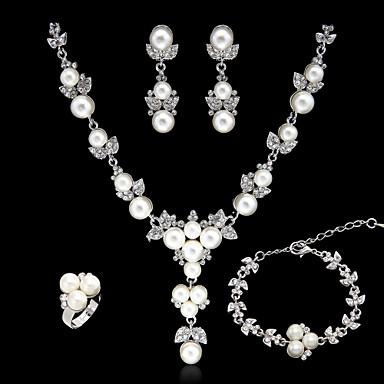 Kadın's Yapay Elmas / İmitasyon İnci Takı Seti - Diğerleri Gümüş