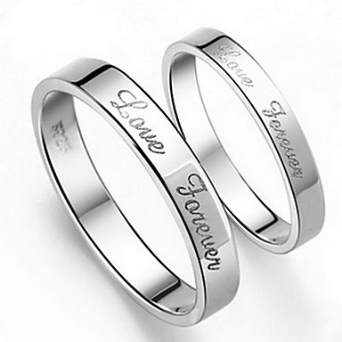 Couple's Couple Rings - Alloy 5 / 6 / 7 For Wedding / Engagement / Daily