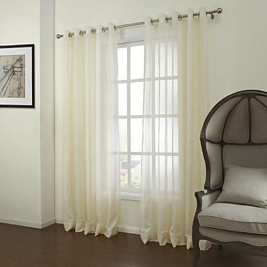 Schlaufen für Gardinenstange Ösen Schlaufen Zweifach gefaltet zwei Panele Window Treatment Neoklassisch, Jacquard Solide Schlafzimmer