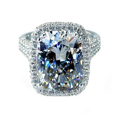 Women's Diamond Clear Sterling Silver Platinum Plated Silver Love Costume Jewelry