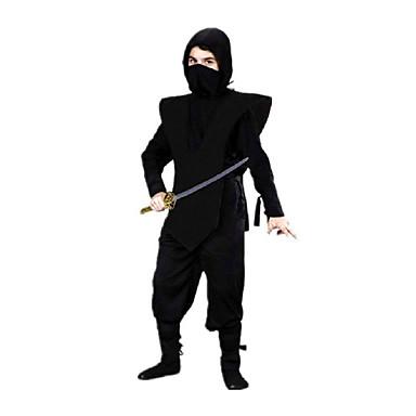 Ninja Costume Cosplay Costume petrecere Copil Halloween Carnaval Festival/Sărbătoare Costume de Halloween Negru 纯色